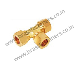Brass Tee Union Assembly